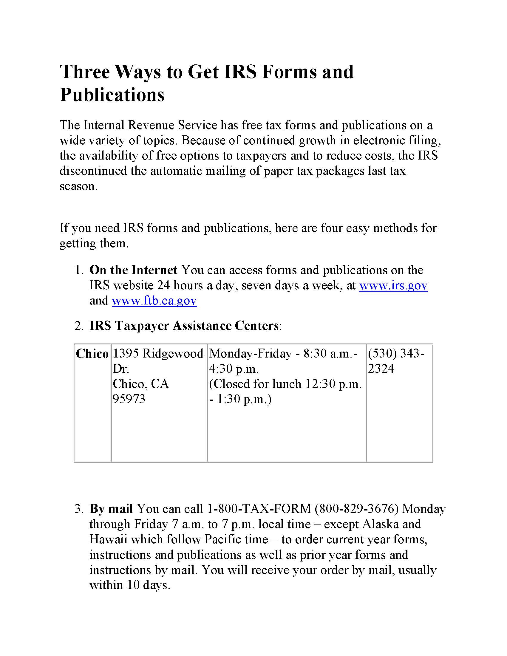 Www Irs Gov Under Forms And Publications
