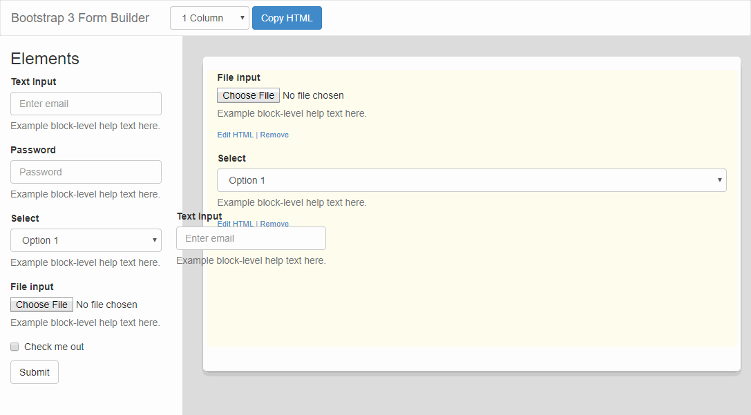 Wysiwyg Form Builder Open Source